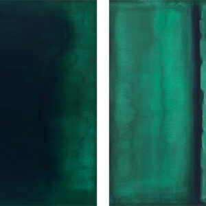Emerald Blues Diptych Susan Stone