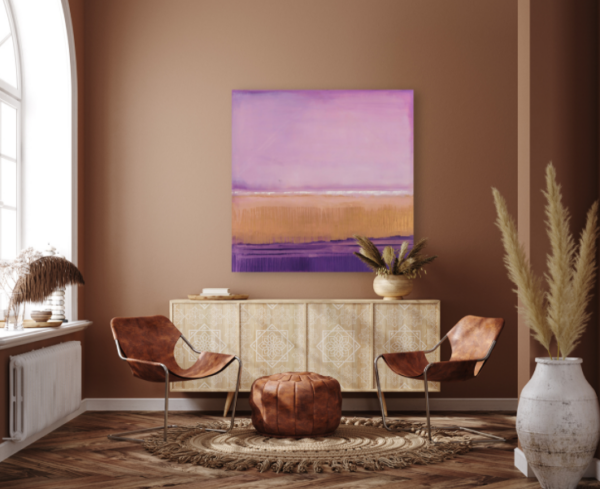 Marina - Abstract Gallery Wrap by artist susan stone