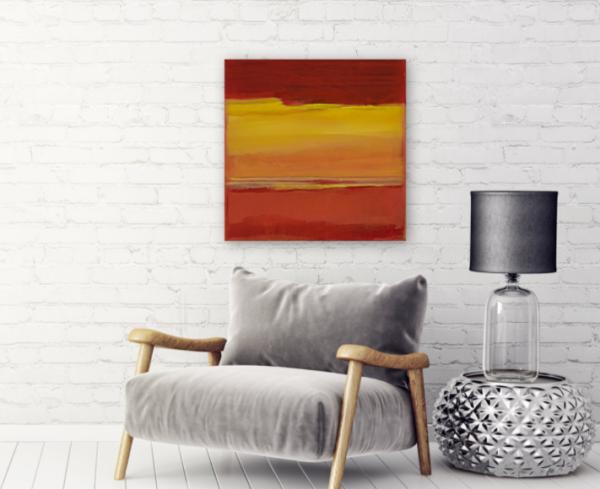 Canvas gallery edge - Red skies at night -artbysusanstone