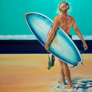 Surfer Girl - Art by Susan Stone